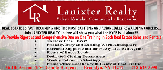 Lanixter Real Estate Jobs Brooklyn NY